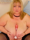 Kelly bbw dildo tit fucked  blond bbw with macromastia large tits tit fuckeds her dildo. Blond bbw with macromastia great breasts tit fucks her dildo
